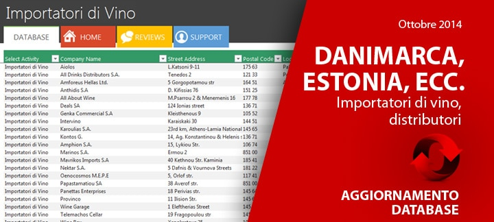 Aggiornamento Database Ottobre 2014