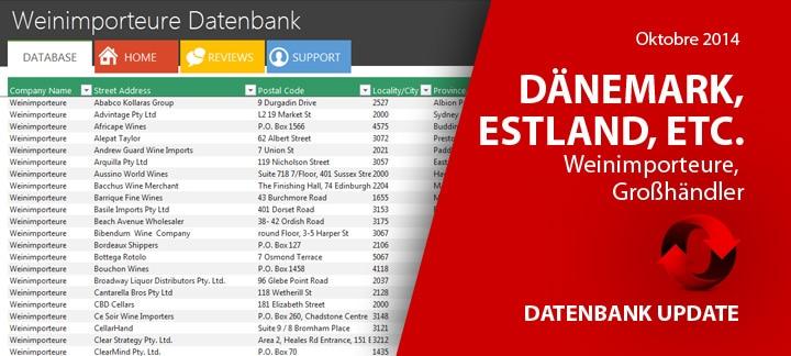 Datenbank Update vom Oktober 2014